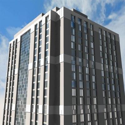 skyscraper buildings 3d model