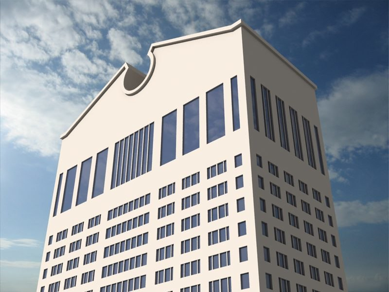 sony building known t 3d model
