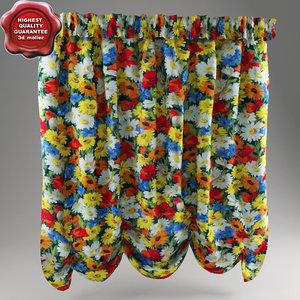 austrian curtain 3d model