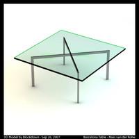 MR Barcelona Table