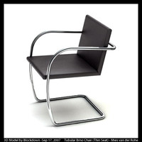 MR Tubular Brno Chair with Thin Seat