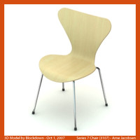 arne jacobsen chair 3d max