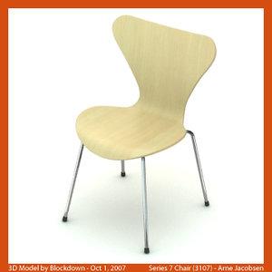 arne jacobsen chair 3d max