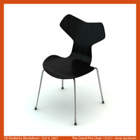 arne jacobsen chair 3d model