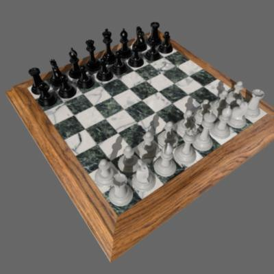 3d model set chess pieces