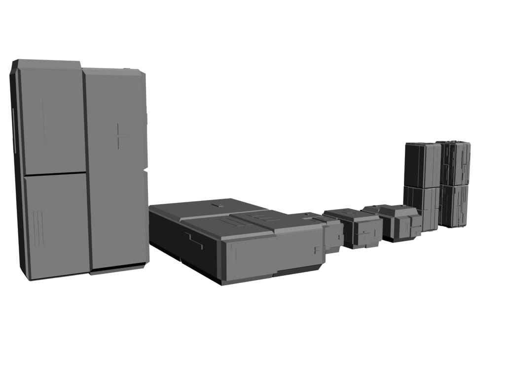 max scifi boxes futuristic