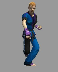 3d black karate girl cynthia model