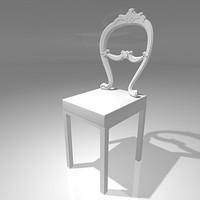 designer chair baroque modern 3d model