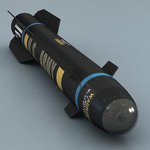 3d model hellfire missile