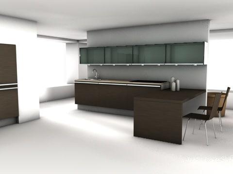 cinema4d modern kitchen