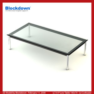 3ds max le corbusier table