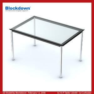 3d le corbusier table