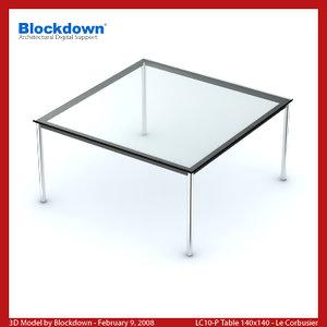 le corbusier table 3d max