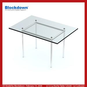 maya le corbusier glass table