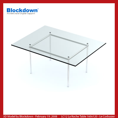 3ds max le corbusier glass table