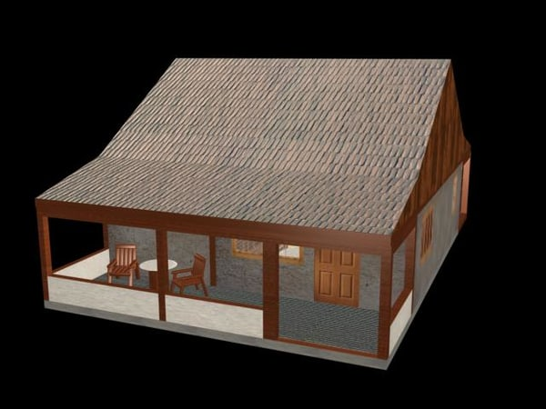 furnished house 3d max