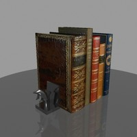 3d model classical books bookends