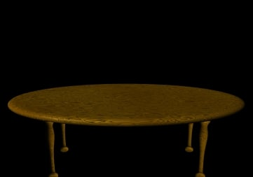 wood table 3d lwo