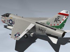 3d a-7b corsair ii a-7 model