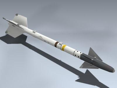 3d model aim-9d sidewinder