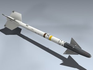 3d model aim-9d sidewinder