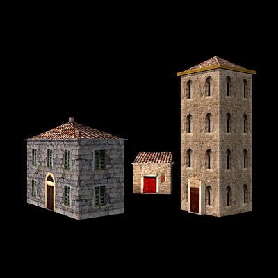 ancient houses 3d model