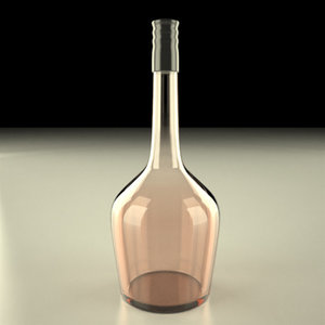 3d model of alcohol bottle