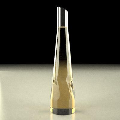 alcohol bottle 3d model