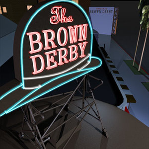 brown derby restaurant 01 3d model