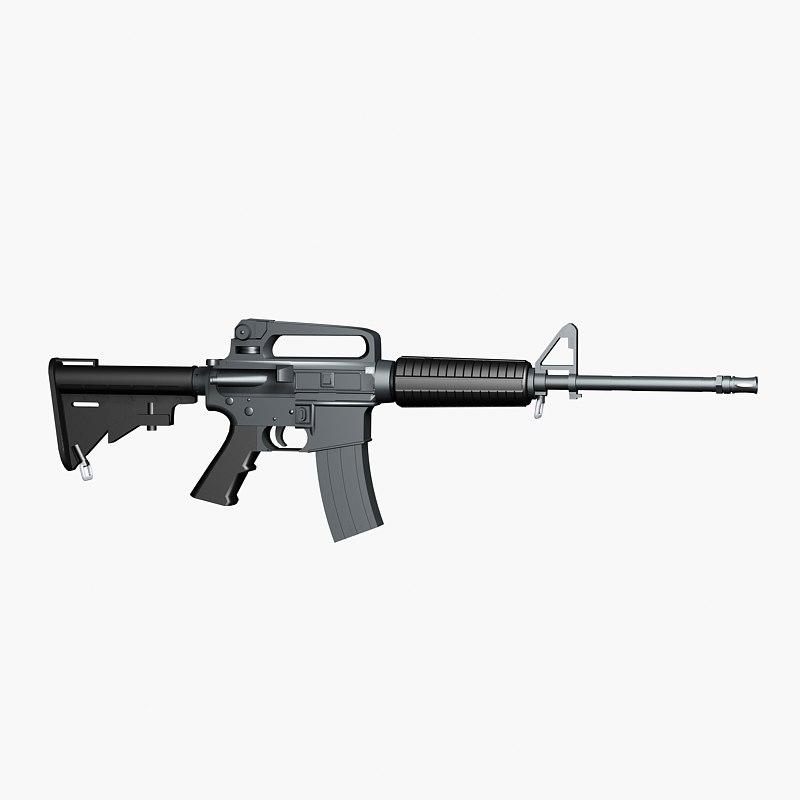 marines assault rifle colt m4a2 3d model