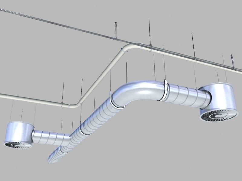 3d ceiling mechanical