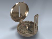 compass gold pocket 3d model