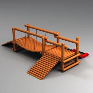 3d bridge playground play model