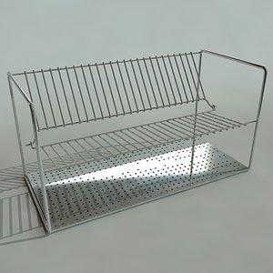 free dish rack 3d model