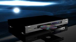 dvd player 3d model