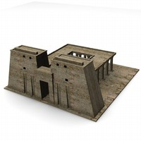 3ds max egyptian temple