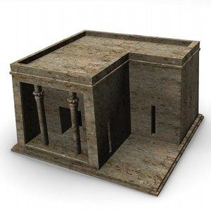 egyptian house 3d model