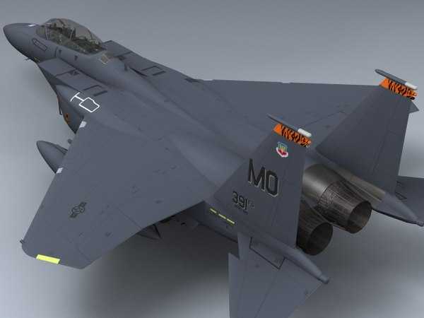 3d model f-15e strike eagle