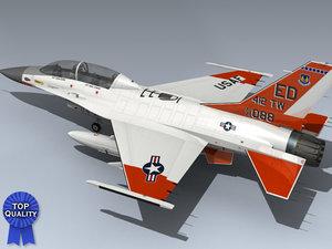 f-16b falcon afftc 3d max