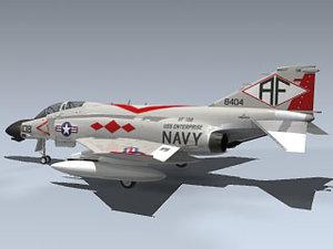 3d model f-4b phantom ii vf-102