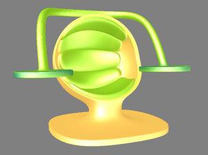 futureristic lounge chair 3d model
