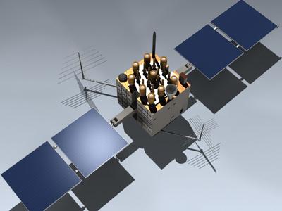 3d gps satellite