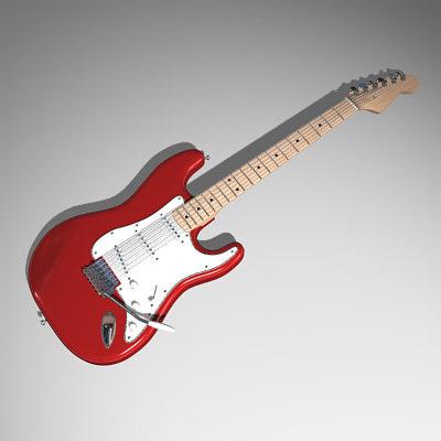guitar electric 3d max