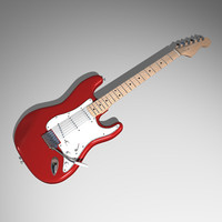 guitar electric 3d max