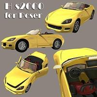 3d honda s2000 poser model