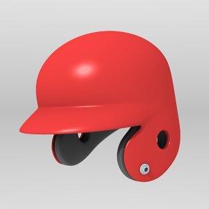 3dsmax baseball batting helmet