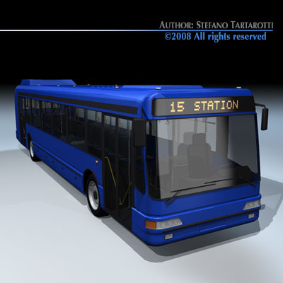 3d intercity bus