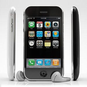 apple iphone 3g cellular phone 3d model
