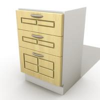 3d kitchen drawers