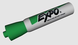 3d model expo dry erase marker